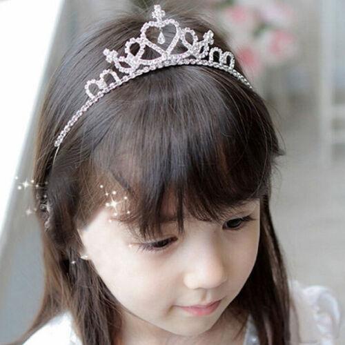 New Rhinestone Tiara Hair Band Kid Girl Bridal Princess Prom Crown Headba xxll