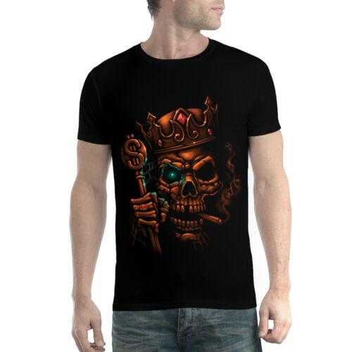 Skull King Crown Smoke Men T-shirt XS-5XL New