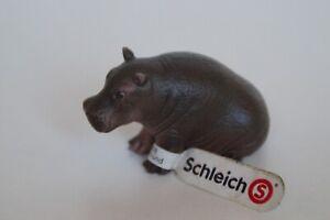 Schleich-14682-Flusspferd-Kalb-hippopotamus-baby-hippo-Wild-Life-Zootiere-NEU