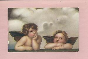 Young-ANGELS-From-SISTINE-MADONNA-On-Beautiful-Vintage-Unused-Postcard
