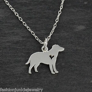 Labrador retriever necklace 925 sterling silver heart cutout lab image is loading labrador retriever necklace 925 sterling silver heart cutout aloadofball Choice Image