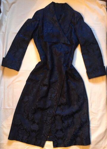 zijde weefsel lange Blue jas Dames Tang in Royal Shanghai dubbele wIxd6z