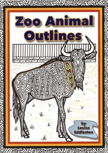 Zoo Animal Outlines Teacher art book colouring