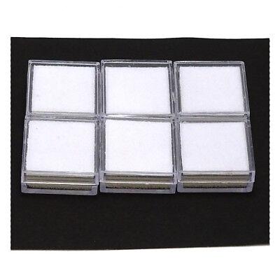 40Pc 3x3cm Wholesale Gem Display Show Case Storage EMPTY PLASTIC BOXES Glass Top