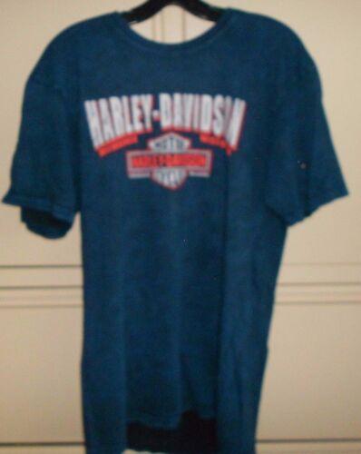 Harley Davidson Men/'s Dark Blue Genuine Age Tee Shirt