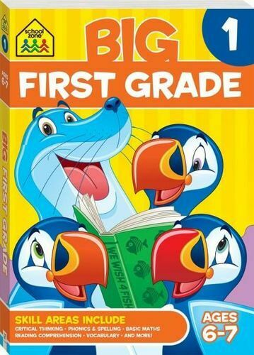 NEW School Zone  Big First Grade By Hinkler Books Paperback Free Shipping