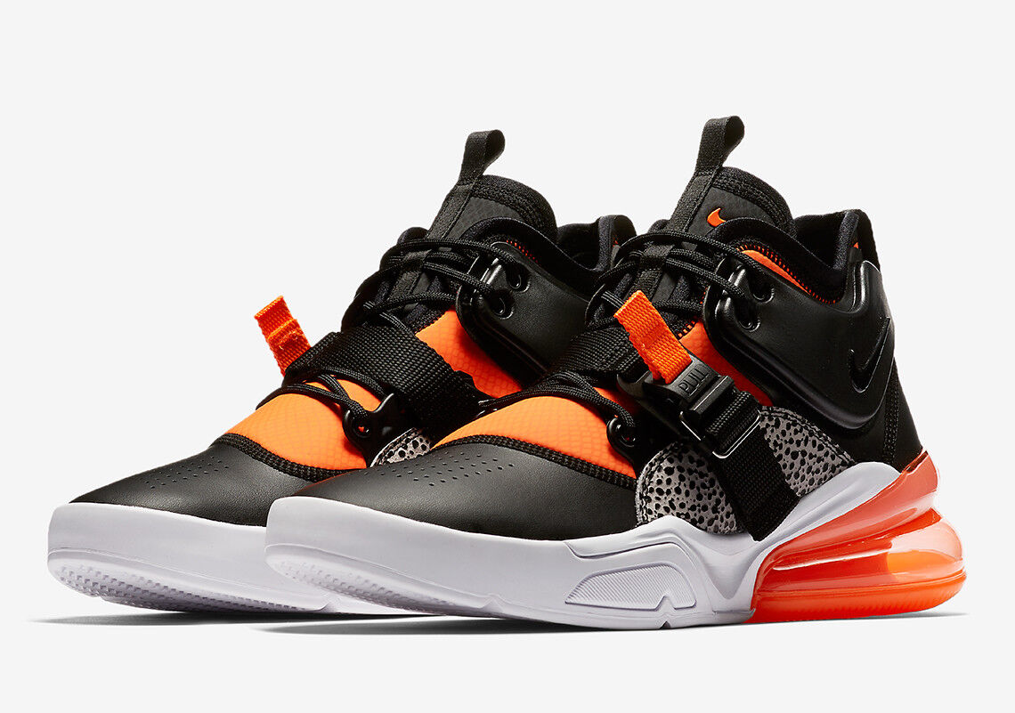 c413fd66ff AUTHENTIC NIKE Air Force 270 Safari orange Wolf Grey White AH6772 004 Men  size