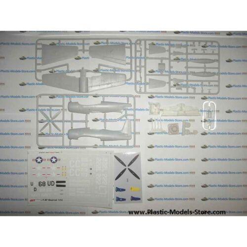 GRUMMAN F8F-2 BEARCAT US NAVAL FIGHTER 1//72 ART MODEL 7201