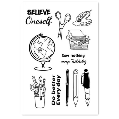 Office stationery Transparent Silicone Rubber clear stamps Scrapbook DIY cards