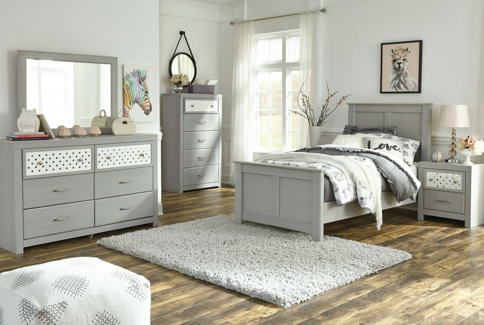 Ashley Furniture Corilyn 5 Piece Youth Twin Poster Bedroom Set