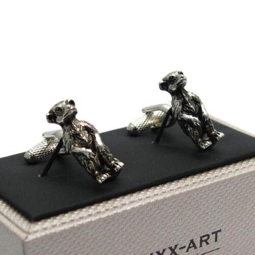 Meerkat Cufflinks by Onyx Art New in Box CK817 Cool gift