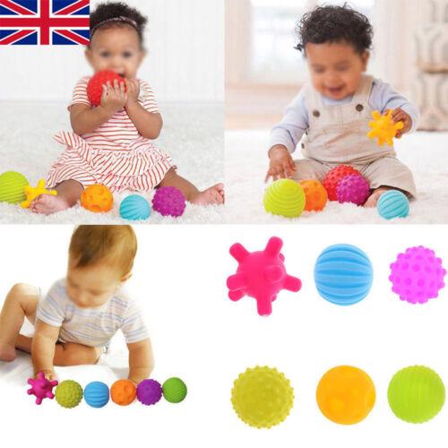 6 Pcs Baby Soft Massage Sensory Development Educational Puzzle Ball Sound Toys