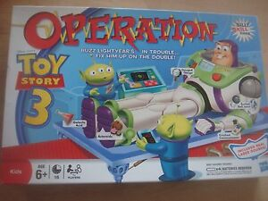Hasbro Games Toy Story 3 Operation Game Spare Playing Pieces Body Parts Cards