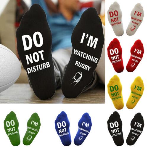 Unisex Novelty Socks DO NOT DISTURB Socks Letter Rugby Printed Tube Socks Women