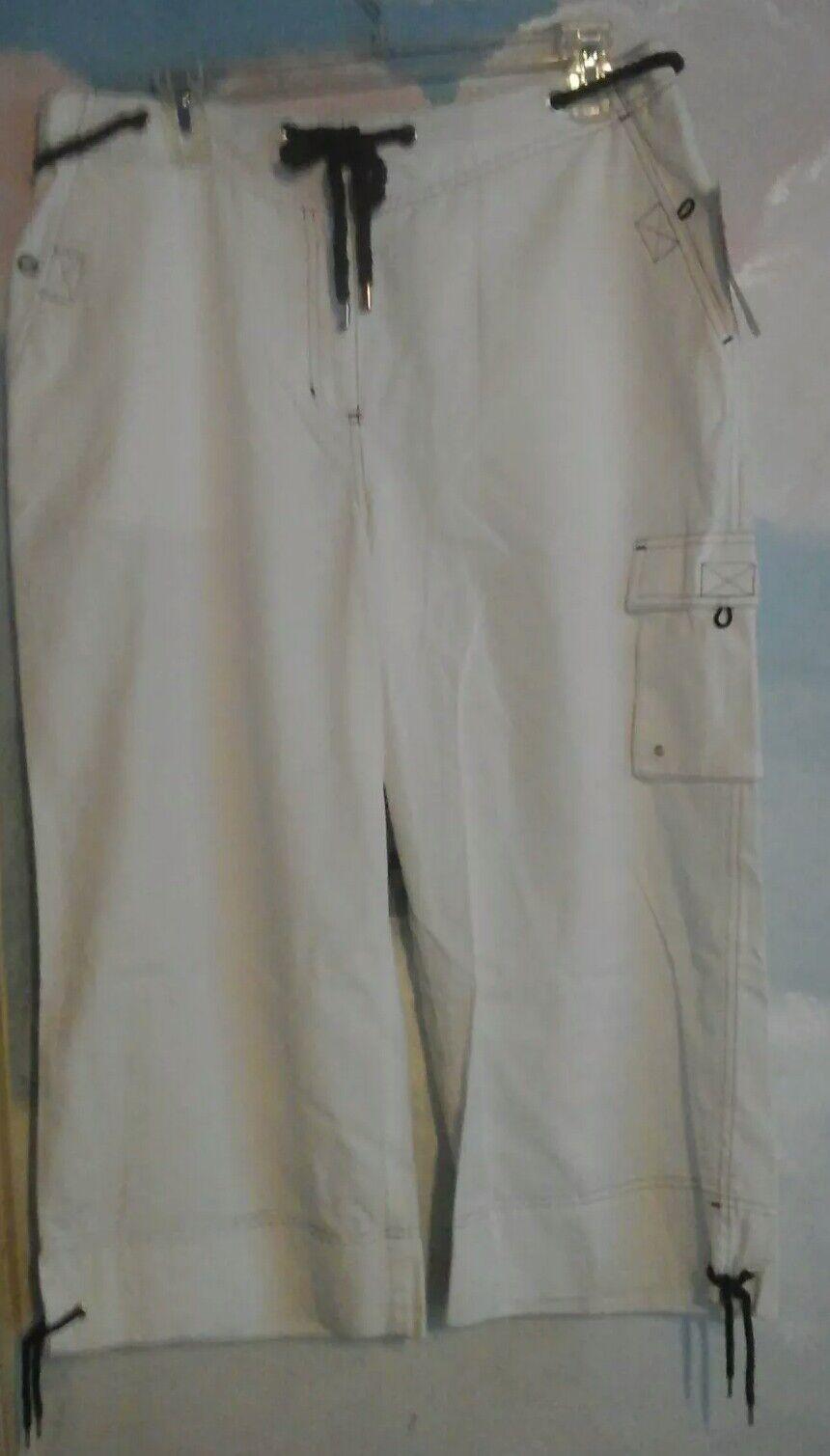 Ralph Lauren Capri Pants In 100% Cotton In White, 12