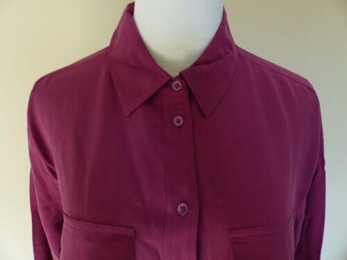 Equipment Blouse washed SIGNATURE Silk Shirt Malbec Wine S M $218 New
