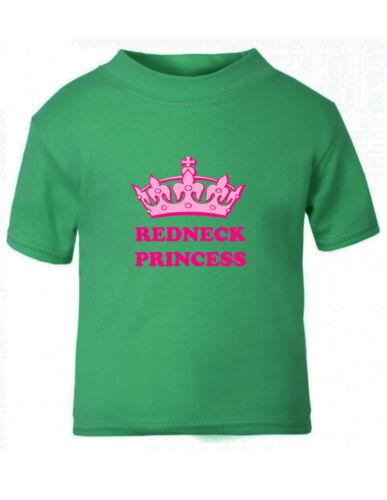 6mo Thru 7t Redneck Princess Baby Toddler Kid T-shirt Tee