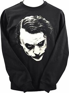 Mens Funny Joker Hoodie Batman Heath Ledger The Dark Knight Why So Serious