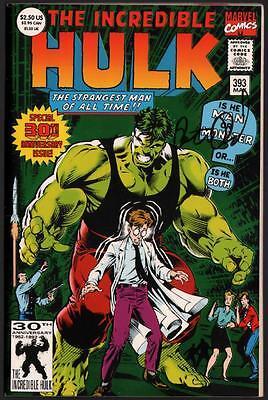 Incredible Hulk #393 Dale Keown foil anniversary cover 9.6