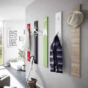 garderobenpaneel color wei diele flur garderobe wandpaneel mit klapp haken ebay. Black Bedroom Furniture Sets. Home Design Ideas