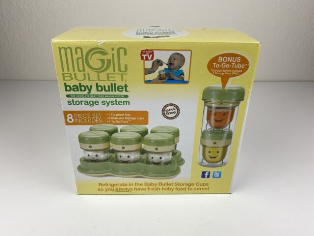 Baby Bullet Storage Kit with to Go Tube /& Lid Green