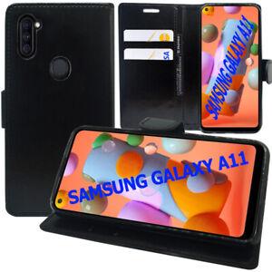 """Étui Coque Housse Portefeuille En Cuir Antichoc Samsung Galaxy A11 6.4"""" SM-A115F"""