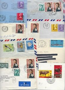 HONG-KONG-SINGAPORE-1950s-70s-COLLECTION-OF-19-COMMERCIAL-COVERS-INCLUDES-REGIST