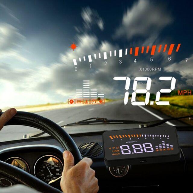 Hot X5 Car HUD Head Up Display OBD-II OBD Speed Warning System Fuel Consumption