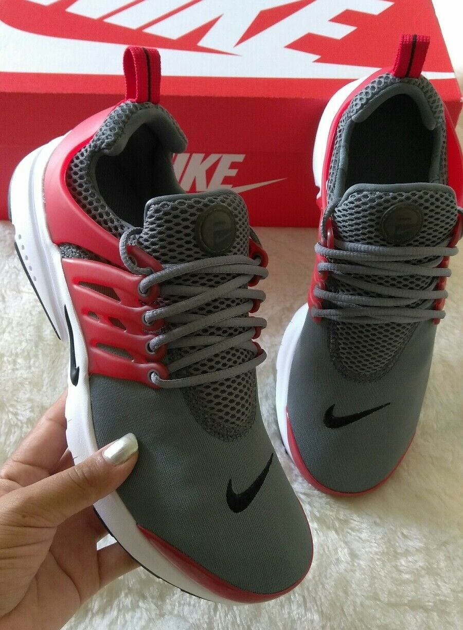 7.5 Donna Nike Air Presto Essential GREY RED MULTICOLOR CASSUAL SHOES LIGHT