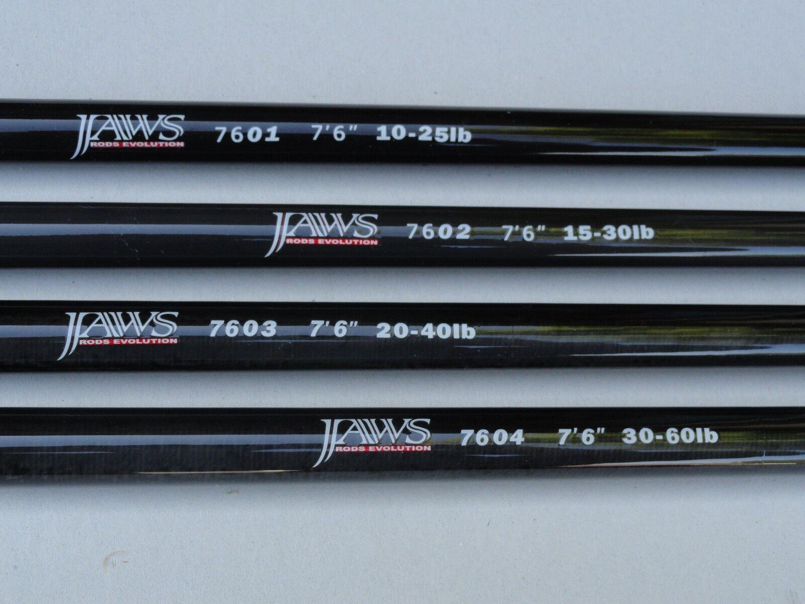Two x Jaws NANO Saltwater Rod Blank 7'6  Line Rating  15lb - 30lb - 7602 Nano