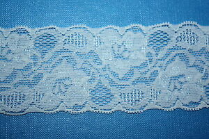 5-Metres-ROLL-VINTAGE-IVORY-STRETCH-LACE-RIBBON-TRIM-50mm-WIDE-BRIDAL-CRAFTS