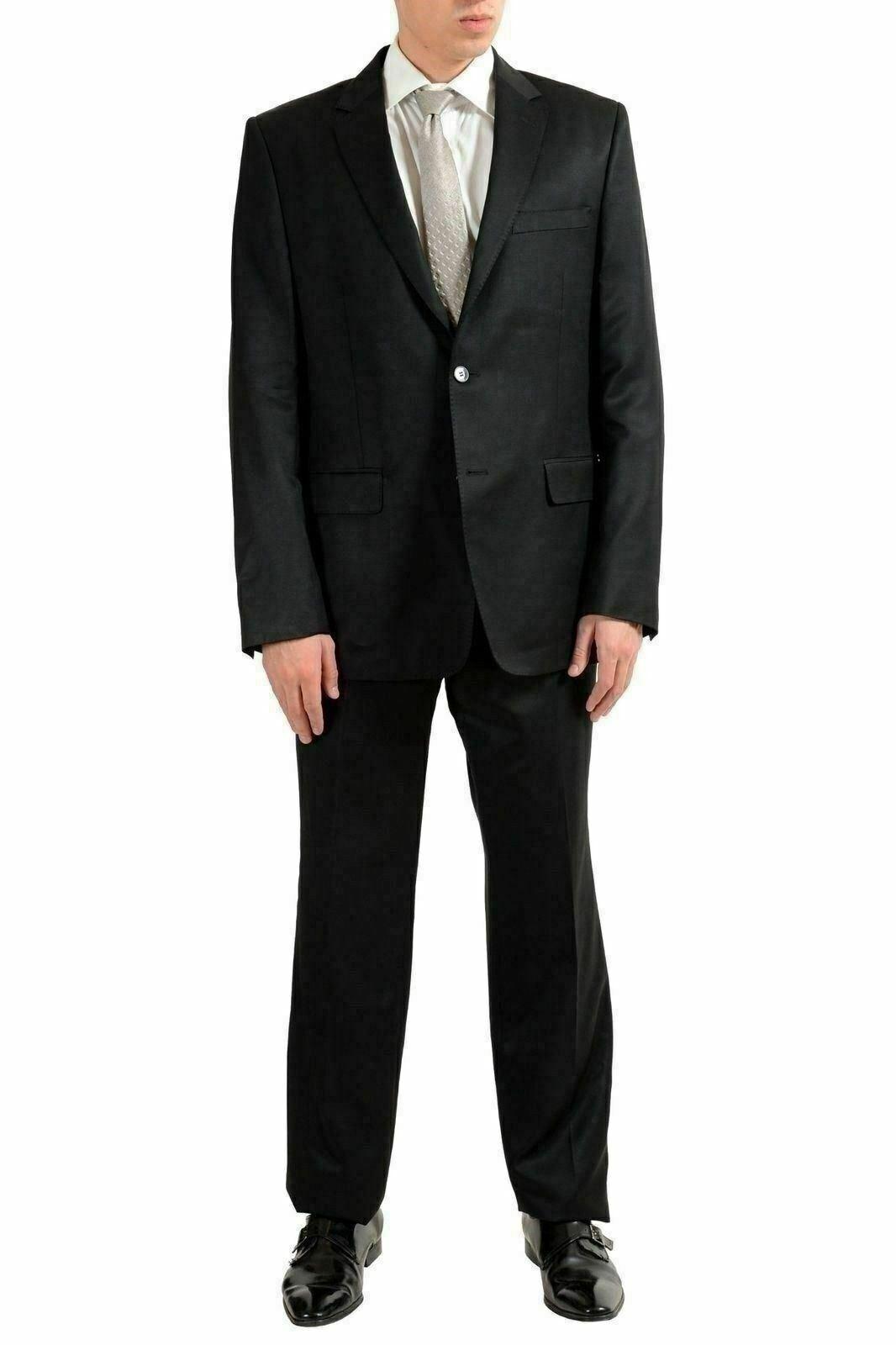 Versace Collection Herren Wolle Schwarz Zwei Knopfen Anzug Us 42 It  | Neues Produkt  | Up-to-date-styling  | Öffnen Sie das Interesse und die Innovation Ihres Kindes, aber auch die Unschuld von Kindern, kindlich, glücklich