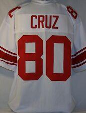 Victor Cruz Unsigned Custom White Football Jersey Men's Size 2XL
