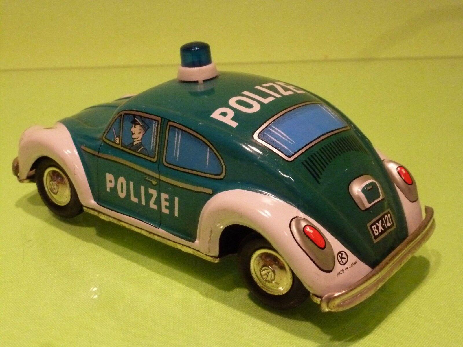 VINTAGE TIN TOY BLECH JAPAN K TOY - VW VW VW VOLKSWAGEN BEETLE POLIZEI POLICE - RARE 202b8a