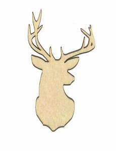 Deer-Head-Unfinished-Laser-Wood-Shape-Cut-Out-D11096-Crafts-Lindahl-Woodcrafts