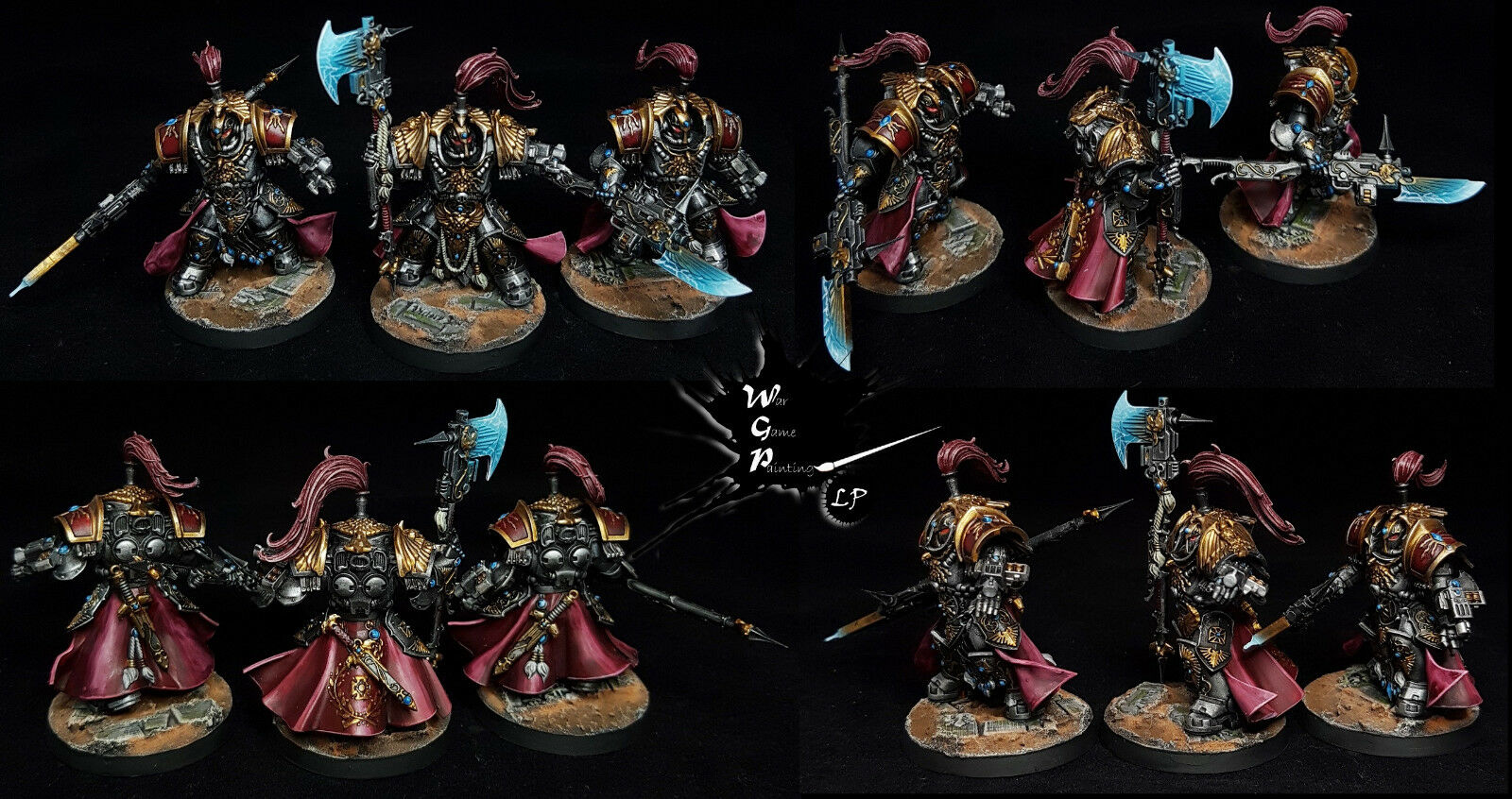 Fury of Terra Shield Host Host Host Adeptus Custodes Commission Painted Warhammer 40K 97e1cf