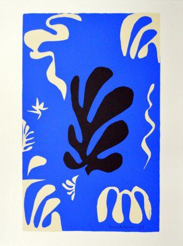 Henri Matisse Composition Fond Bleu Poster Kunstdruck Bild Siebdruck 70x50cm