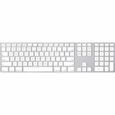 Apple MB110LL/B Wired Keyboard - Silver/White