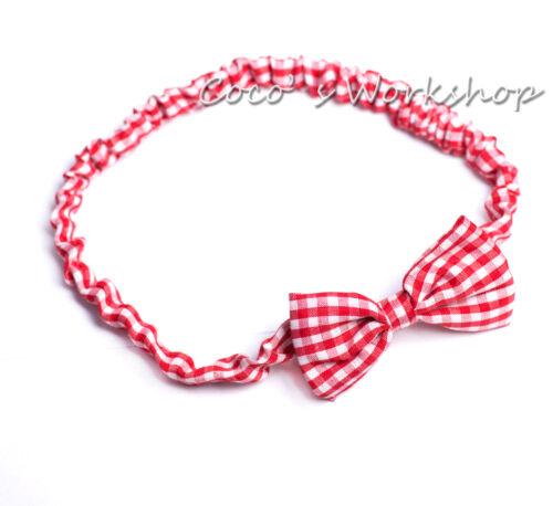 Fabric Elastic Bow Tie Hair Bands Headband Girls Womens
