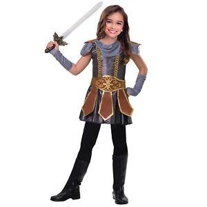 Warrior Ragazze Costume Tudor Medievale Viking Cavaliere per Bambini Costumi