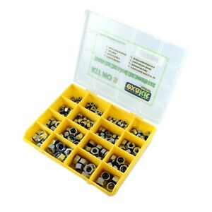 Metric-8-8-Hex-amp-Nylon-Insert-Lock-Nut-fastener-kit-247-piece-EXAKT03