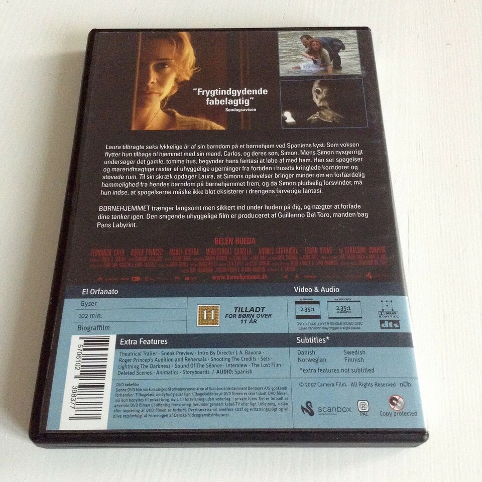 Børnehjemmet, DVD, gyser