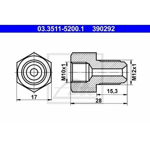 03.3511-5200.1 Adaptateur pour conduite de NEUF unités antithrombine