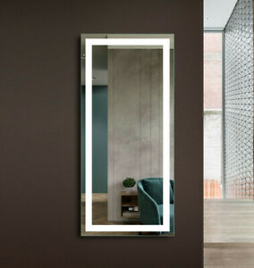 Floor Length Mirror With Lights Walesfootprint Org