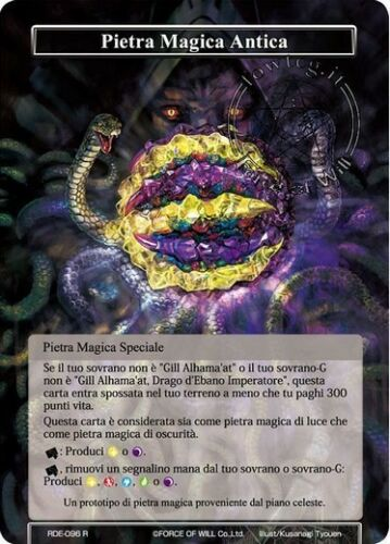 Pietra Magica Antica Ancient Magic Stone FoW Force of Will RDE096 R ItaEng