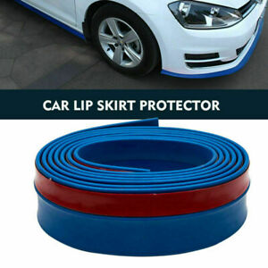 Gonna-Di-Gomma-Di-Auto-Paraurti-Anteriore-Spoiler-Lip-Protector-Universale-Blu