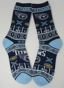 Tennessee Titans For Bare Feet NFL Crew Socks Large 10-13 FREE SHIP!