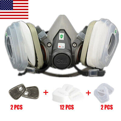 3m Ebay Spray Face In Respirator Set Mask Protection 17 Painting For Gas 1 6200 Half