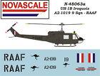 RAAF UH-1B Huey Mini-Set Decals 1/48 Scale N48063a