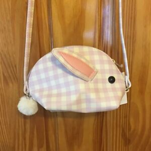 Lot of 2 NWT Cat /& Jack Girls Easter Bunny Crossbody Bag Purse Lilac and White